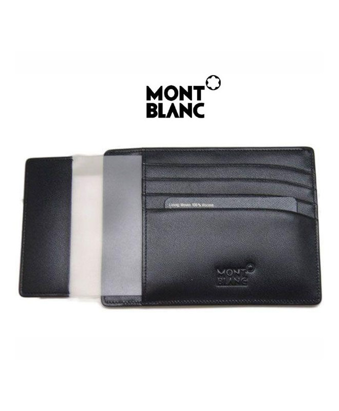 pochette 4 cc avec porte carte d 39 identit montblanc. Black Bedroom Furniture Sets. Home Design Ideas