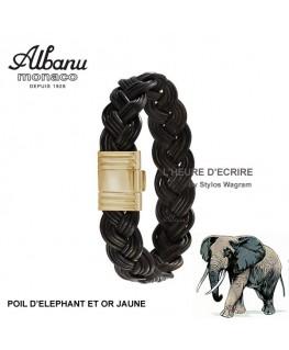 Bracelet Albanu Poils d'Elephant Tressé Or Jaune 13mm