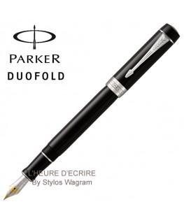 Stylo Parker Duofold Classic Noir CT Centenial Plume