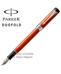 Stylo Parker Duofold Classic Big Red Vintage CT Inter Plume