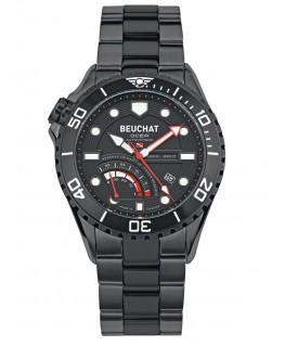 Montre Beuchat Ocea Auto Réserve de Marche Full Black BEU0097-1