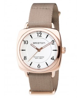 Montre Femme Briston Clubmaster Chic Or Rose Cadran Blanc 17536.SPRG.L.2.NT