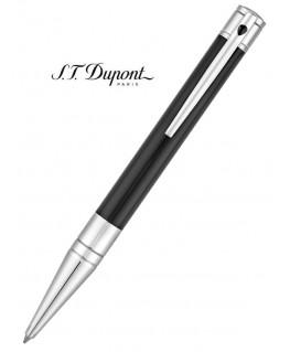 Stylo Bille St Dupont D-Initial Laque Noire et Chrome 265200