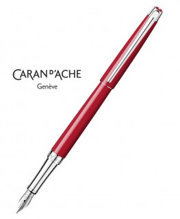 Stylo Plume Caran d'Ache Leman Slim Rouge Ecarlate 4791.780