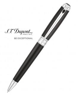 Stylo Bille St Dupont Line D Medium Noir et Palladium 415100M