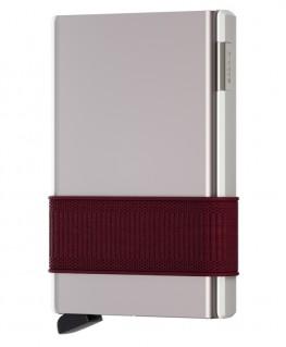 Secrid New Cardslide Blanc et Bordeaux