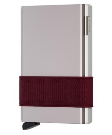 Porte-cartes Secrid New Cardslide Blanc et Bordeaux CS-White/Bordeaux
