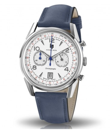 Montre-Lip-Himalaya-40mm-Chronographe-Quartz-bracelet-bleu-Réf_671593
