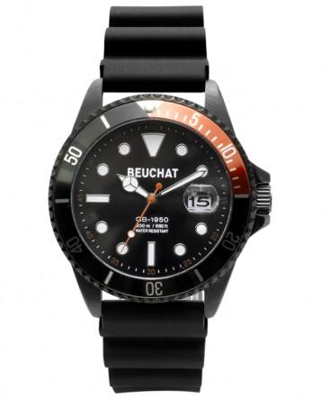 Montre-Homme-Beuchat-GB1950-Black-44mm-Cadran-Noir-Lunette-Noir-Orange-Ref_BEU1950-74