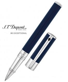 Stylo Roller St Dupont D-Initial Laque Bleue et Chromé
