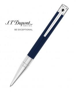 Stylo Bille St Dupont D-Initial Laque Bleue et Chrome