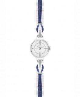 Mini-Montre Bijou SILA Argenté Bleu de Minuit