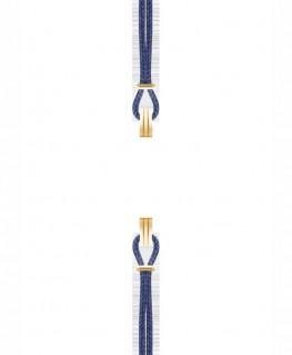 Bracelet de Montre Interchangeable SILA Doré Bleu de Minuit