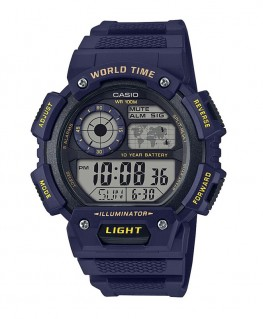 Montre Casio Collection WorldTime Bleu AE-1400WH-2AVEF