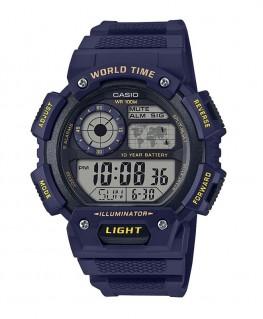 Montre Casio Collection WorldTime Bleu AE-1400WH-2AVEF