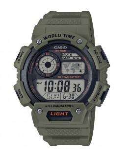 Montre Casio Collection WorldTime Kaki AE-1400WH-3AVEF