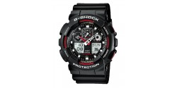 Montre Casio G-Shock Noire & Rouge GA-100-1A4ER