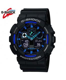 Casio G-Shock Noire et Bleue GA-100-1A2ER