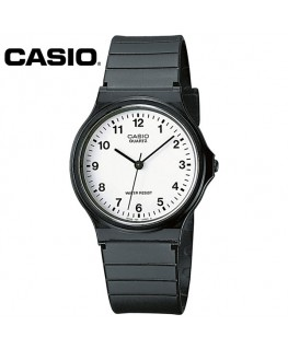 Casio Collection Noire Fond Blanc MQ-24-7BLLGF