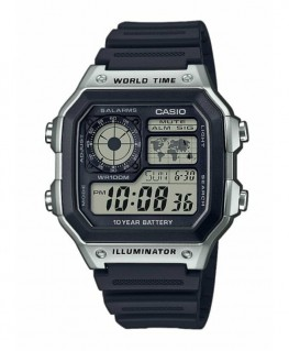 Montre Casio Collection World Time Rectangulaire AE-1200WH-1CVEF
