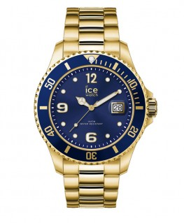 Montre ICE Watch Ice Steel Gold Blue Large