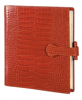 Organisateur Mignon AK17 Veau Croco Savannah Orange