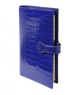 Organisateur Mignon AK18 Veau Croco Savannah Bleu Electrique