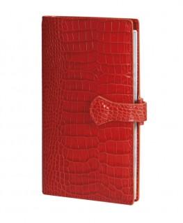 Organisateur Mignon AK18 Veau Croco Savannah Orange