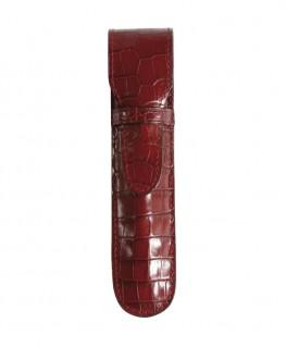etui-stylo-mignon-1-place-veau-croco-savannah-rouge-ref_950155M
