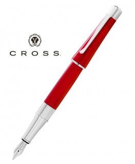 Stylo Plume Cross Beverly Rouge Translucide