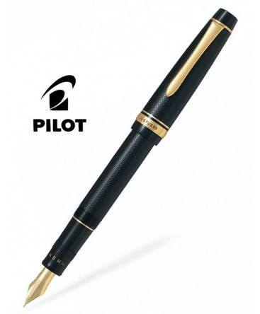 stylo-plume-pilot-justus95-resine-noir-plaque-or-fj-3mr-nb-b-m