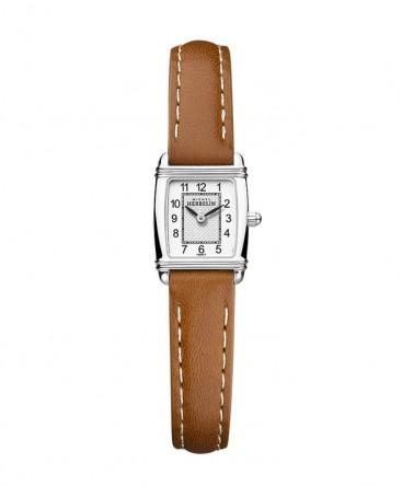 montre-michel-herbelin-art-deco-mini-tonneau-cuir-marron-ref_17438/22GO