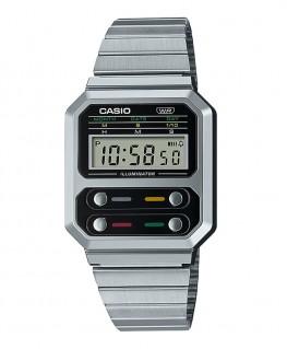 montre-casio-vintage-acier-rectangulaire_A100WE-1AEF