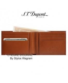 ST Dupont Line D Porte-billets 6 CC Marron