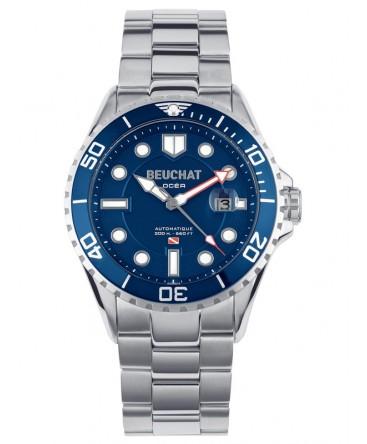 2 Montre Beu0095 Cadran Beuchat Bleu Ocea Automatique 35qR4AjL