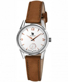 Montre Lip Himalaya 29mm Cadran Blanc Index Rosé 671602 -30%