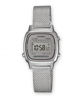 Montre Casio Vintage Acier Bracelet milanais LA670WEM-7EF