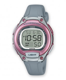 Montre Casio Collection Grise et Rose LW-203-8AVEF