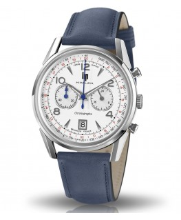 Montre Lip Himalaya 40mm Chronographe Quartz Bracelet Bleu