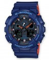 Montre Casio G-Shock Bicolore Bleu et Orange GA-100L-2AER