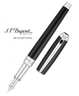 Stylo Plume St Dupont Line D Medium Noir et Palladium 410100M