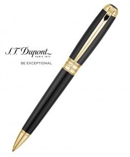 Stylo Bille St Dupont Line D Large Noir et Or Jaune 415101L