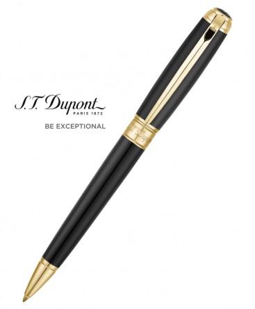 Stylo Bille St Dupont Line D Medium Noir et Or Jaune 415101M