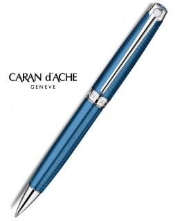 Stylo bille Léman Grand Bleu argenté rhodié