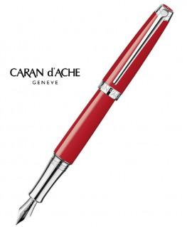 Stylo-Plume-Caran-D'Ache-Léman-Rouge-Ecarlate-Argenté-Rhodié-Réf_4799.782