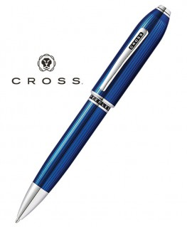 Stylo Bille Cross Peerless 125 Quartz Bleu Translucide Réf_AT0702-14