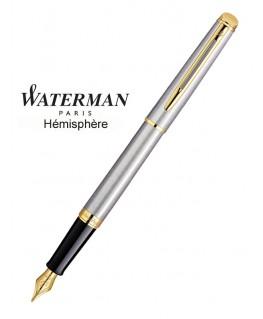 Stylo Pume Waterman Hémisphère Acier Satiné GT