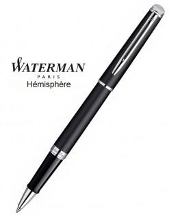 Stylo Roller Waterman Hémisphère Noire Mate CT