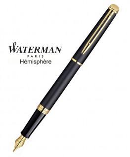 Stylo Plume Waterman Hémisphère Noire Mate GT