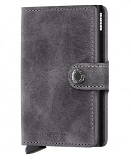 Secrid Miniwallet Vintage Grey-Black MV-GREY-BLACK